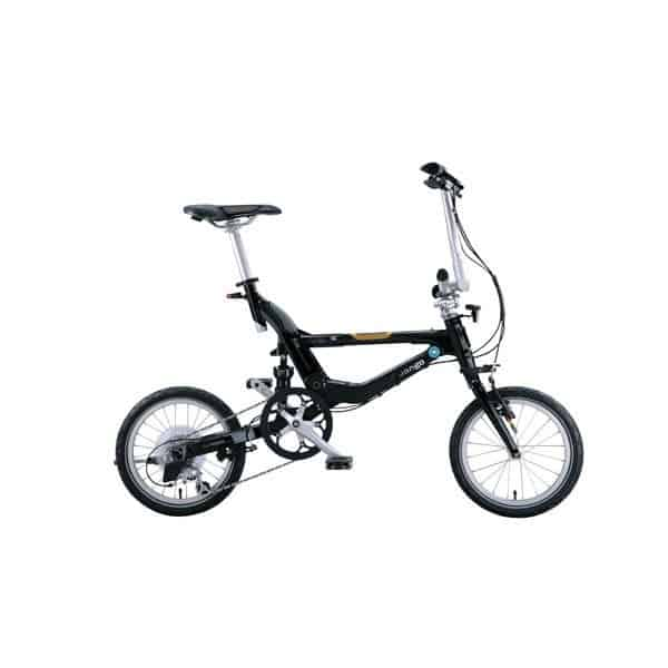 FLIK V8 Folding Bike – 8 Speed – V Bar – Black