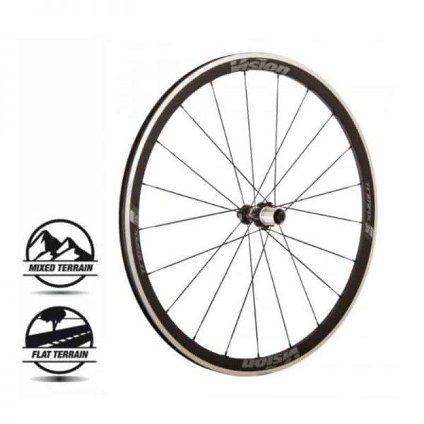 VISION TRIMAX 35 Silver surface SH11 V17 (wheelset)